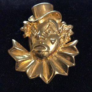 1970s Clown Brooch